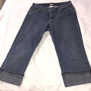 Liz & Co Stretch Denim Cropped Capri Jeans size 12
